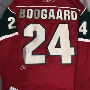Autographed derek Boogaard Jersey